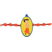 Chhota Bheem Rakhi - Yellow and Blue
