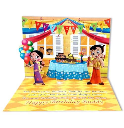 Chhota Bheem Birthday Greeting Card