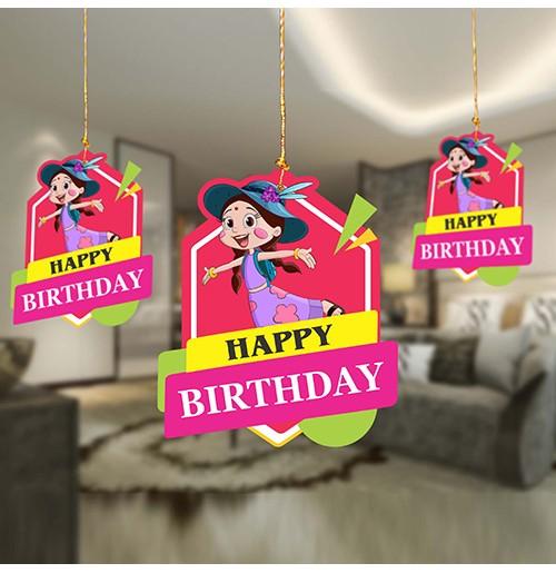 Birthday Decoration Hanging Swirls- Chutki Pack of 10 Pc