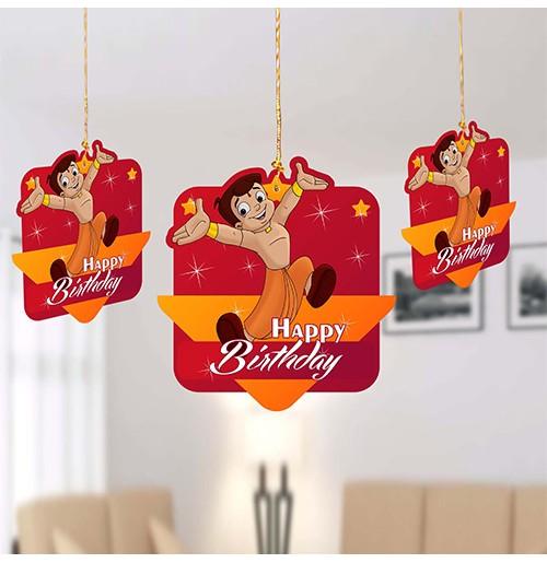 Birthday Decoration Hanging Swirls- Bheem-Pack of 10 Pc