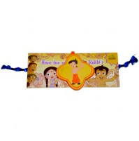 Chhota Bheem Rakhi - Yellow & Orange