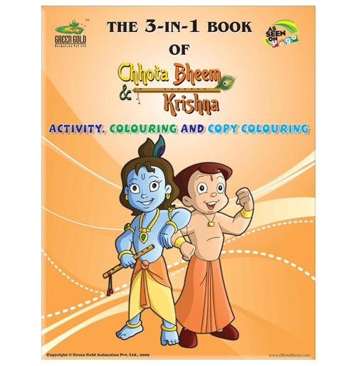 The 3-IN-1 Book Of Chhota Bheem and Krishna