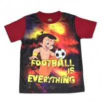 Chhota Bheem Sublimation T-shirt- Maroon