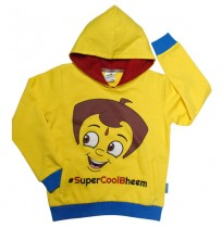 Chhota Bheem Hoodie Yellow and Blue