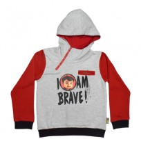 Super Bheem Hoodie Grey and Red