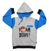 Super Bheem Hoodie Grey and Blue