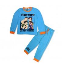 Chhota Bheem Night Suit Blue and Orange