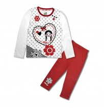 Chutki Night Suit White and Red