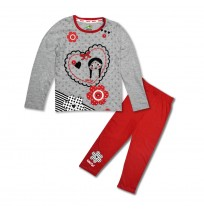 Chutki Night Suit Grey and Red