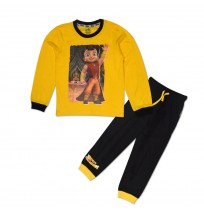 Super Bheem Night Suit Yellow and Black