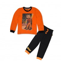 Super Bheem Night Suit Orange and Black