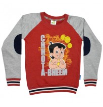 Chhota Bheem Sweat Shirt Red and Grey