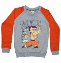 Chhota Bheem Sweat Shirt Orange and Grey