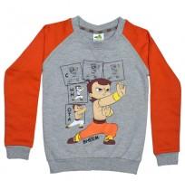 Chhota Bheem Sweat Shirt Orange and Grey