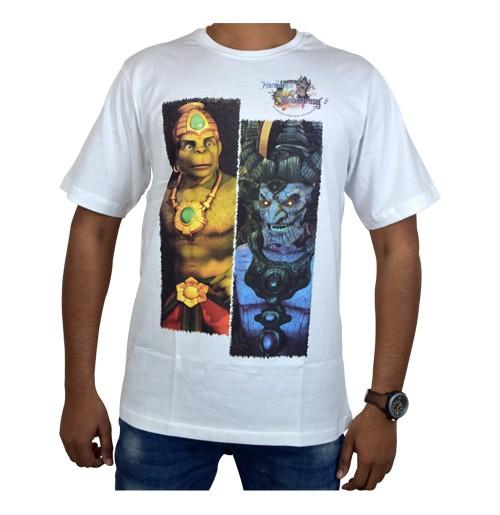 Hanuman Vs Mahiravana T-Shirt-White