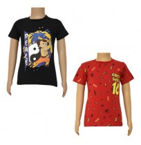 Chhota Bheem T-shirts- Combo Black and Red