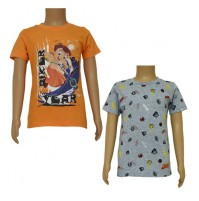 Chhota Bheem T-shirts- Combo Orange and Grey