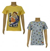 Chhota Bheem T-shirts- Combo Yellow  and Grey