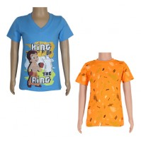 Chhota Bheem T-shirts- Combo Blue and Orange