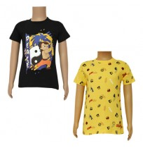 Chhota Bheem T-shirts- Combo Black and Yellow