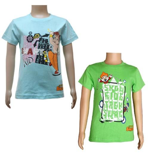 Boys T-Shirt Combo - Green & Blue