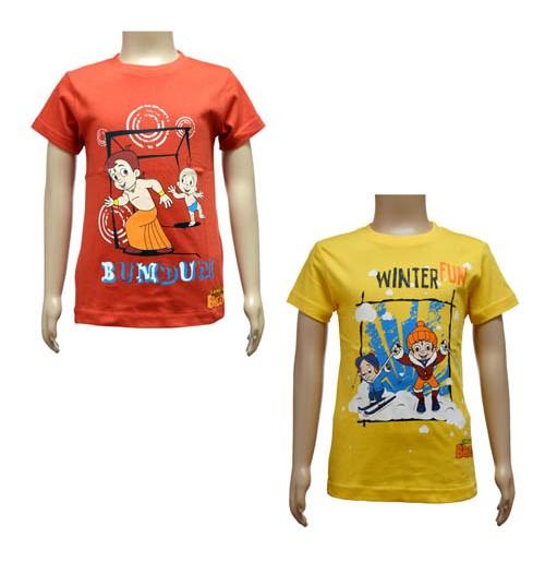 Boys T-Shirt Combo - Red & Yellow