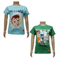 Boys T-Shirt Combo - Sky Blue & Green
