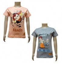 Boys T-Shirt Combo - Peach & Grey