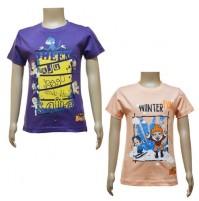 Boys T-Shirt Combo - Purple & Peach