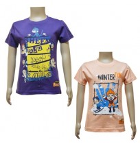 Boys T-Shirt Combo - Purple & Peach
