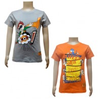 Boys T-Shirt Combo - Grey & Orange