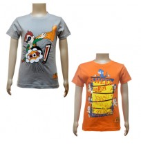 Boys T-Shirt Combo - Grey and Orange