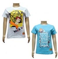 Boys T-Shirt Combo - White & Blue