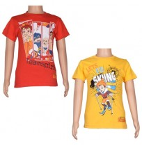Boys T-Shirt Combo - Yellow & Red
