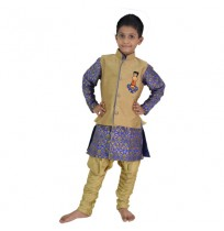 Ethnic Wear - Boys Achkan Pajama 3 Pc Set
