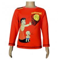 Chhota Bheem Full Sleeve T-Shirt - Fiesta Red