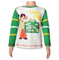 Chhota Bheem Full Sleeve T-Shirt - Snow White