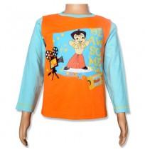 Chhota Bheem Full Sleeve T-Shirt - Bright Marigold