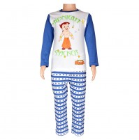 Chhota Bheem Night Suit White and Navy