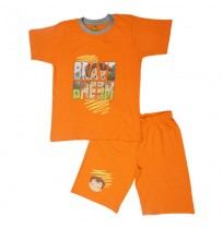 Chhota Bheem Short Set Half Sleeves - Orange