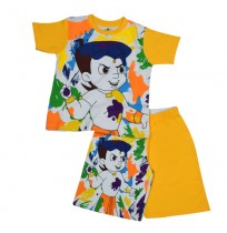 Chhota Bheem Short Set Half Sleeves - Multi Color