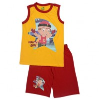 Mighty Raju Short Set - Yellow & Red