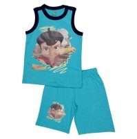 Super Bheem Short Set - Turquoise Blue