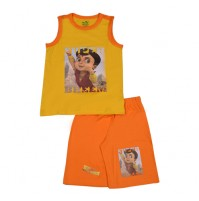Super Bheem Short Set - Yellow & Orange
