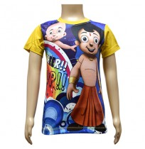 Boys Sublimation T-Shirt - Blue & Yellow