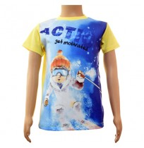 Boys Sublimation T-Shirt - Yellow and Blue