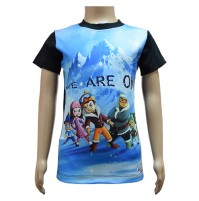 Boys Sublimation T-Shirt - Black & Blue