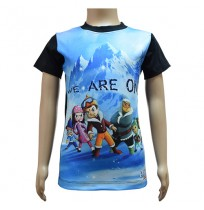 Boys Sublimation T-Shirt - Black and Blue
