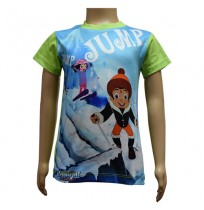 Boys Sublimation T-Shirt - Green & Blue