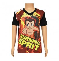 Chhota Bheem Sublimation T-shirt- Black